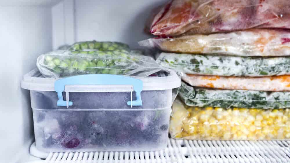 Food in Freezer - Fridge Freezer Maintenance Tips