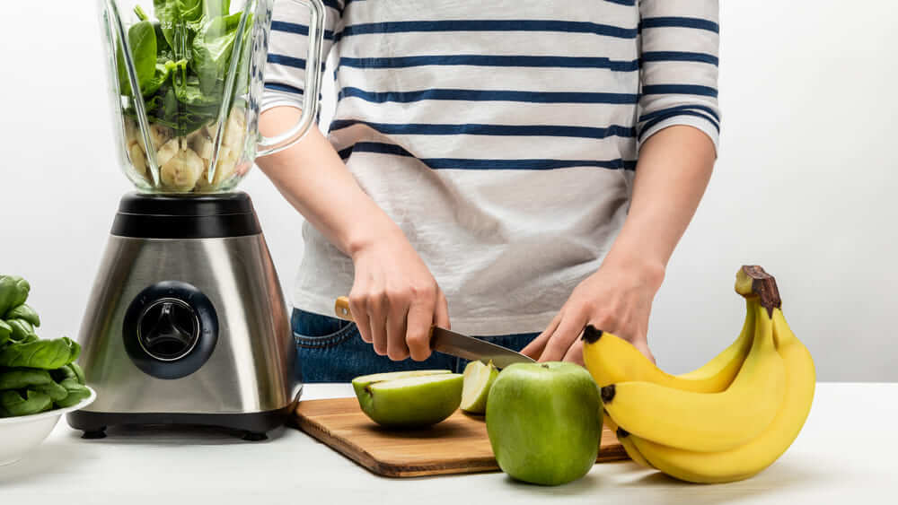 Time-Saving Kitchen Accessories for Healthy Meals - blender with fruits and vegetables